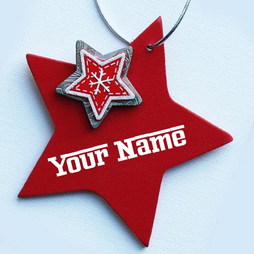 Write Name on Red Star
