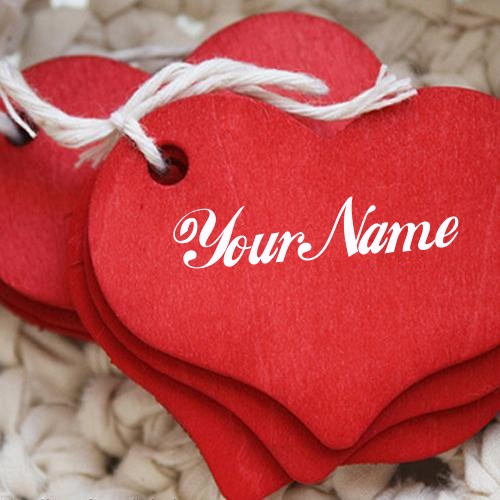 Write Name on Red Heart