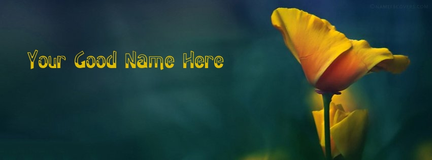 Write Name on Yellow Flower Facebook Cover Pix