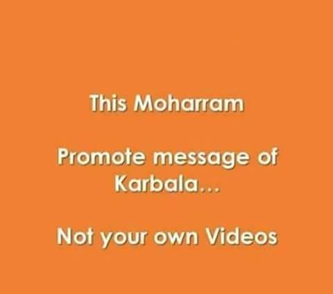 Promote message of Karbala