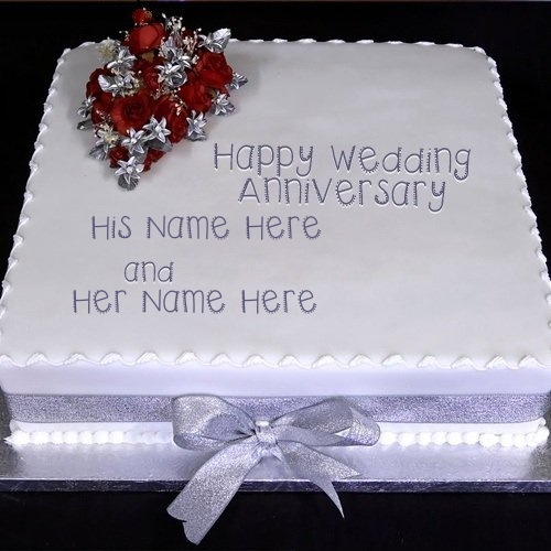 write my name in wedding cake wedding anniversary cake name pix 27664